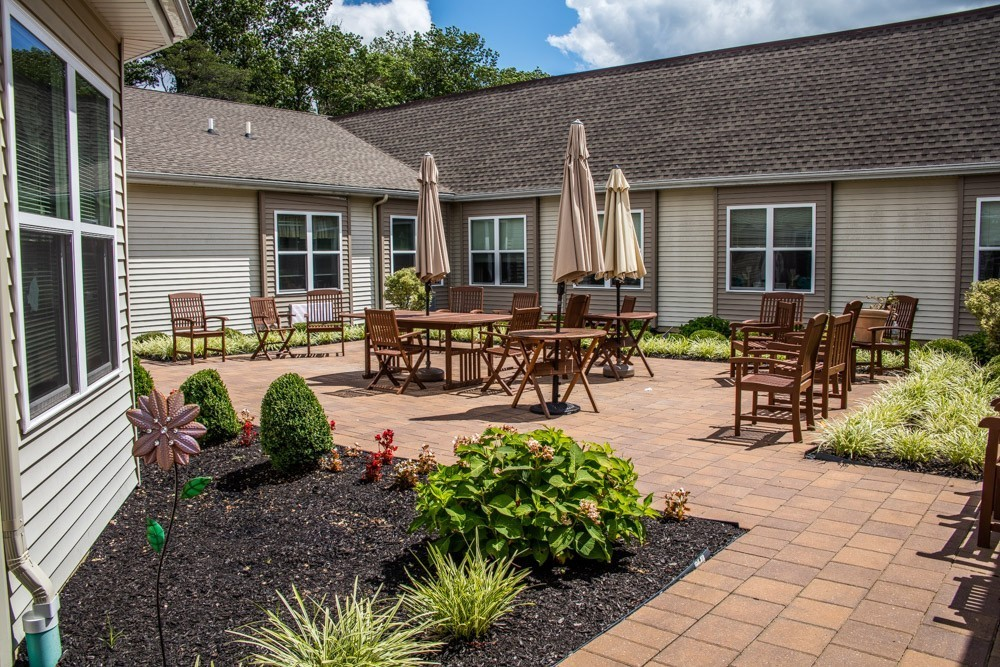 There is also a separate, full enclosed outdoor area for the Alzheimer/Special needs unit.