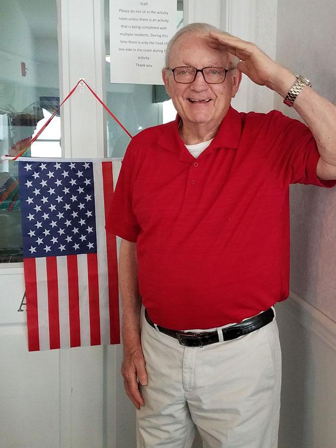 Memorial Day - Carl salutes